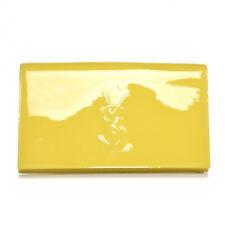 e3fa1b6db0d4 Saint Laurent Yves YSL Belle Du Jour Large Yellow Patent Leather Clutch  361120