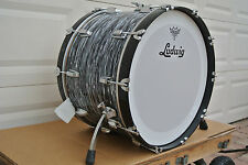"""LUDWIG USA CLASSIC BLACK OYSTER PEARL 22"""" BASS DRUM for YOUR DRUM SET! #C67"""