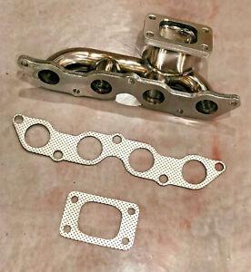 FOR Toyota Yaris Vios Echo 1NZ-FE Turbo Exhaust Manifold T3 StainlessSteel 1NZFE