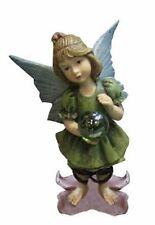 Fairy Garden-Fairy Stands On Flower/Holds Ball