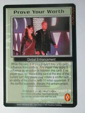 1998 Babylon 5 Ccg - The Shadows - Rare Card - Prove Your Worth
