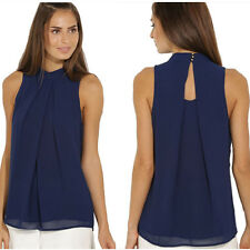 Fashion Women Summer Sleeveless Chiffon Shirt Blouse Casual Tank Vest Tops
