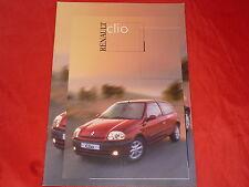 RENAULT Clio Basis RT RXE Initiale Prospekt von 1999