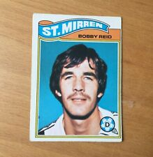 TOPPS 1978 FOOTBALL CARD-No.29-BOBBY REID,ST.MIRREN-GREEN BACK