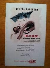 Angela Lansbury Color Playbill  An Evening of Dorothy Paker Harriet Harris 2006