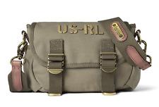 Ralph Lauren Canvas Raider Bag RL Logo Olive Green Crossbody Shoulder Bag NWT