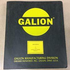 Galion 150A SERVICE SHOP REPAIR MANUAL HYDRAULIC RT MOBILE CRANE GUIDE, Series A