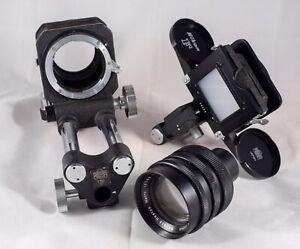 Nikon F Bellows .Nikon f Focusing Attachment Slide Copier .Wallace Heaton Lens