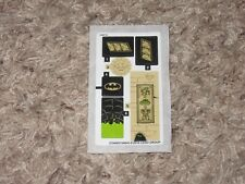 New unapplied Lego 76056 Batman Rescue Ra's Ghul replacement sticker decal sheet