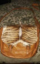 springbok messenger bag leather fur large