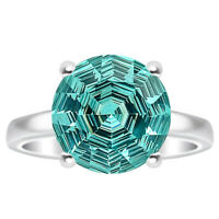 Simulated Paraiba Tourmaline 925 Sterling Silver Ring Jewelry Size 6-9 DRR1079_B