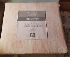 SALE-Bed Bath Beyond 100% Cotton Twin XL Duvet Cover & Standard Pillow Sham NWT