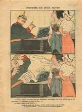 Caricature Politique Pickelhaube Alsace-Lorraine Elsass France 1919 ILLUSTRATION