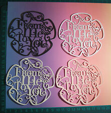 TONIC 'FROM ME TO YOU' SENTIMENT TOPPERS - assorted colours x8