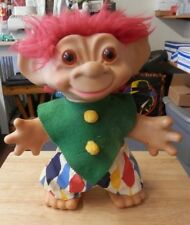 "1960's Vintage large 14"" troll doll with red hair"