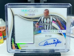 2020 Panini Immaculate Soccer PATRICE EVRA Superior Patch Autograph 31/50 AUTO