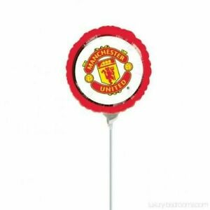 Manchester United FC 9'' Foil Helium Balloon Football Party Balloons - 5 Pack