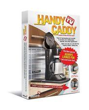 Milen Handy Caddy Black, As Seen On TV Counter Top Appliance Sliding Roller Tray