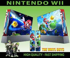 Façades, coques et autocollants multicolore pour jeu vidéo et console Nintendo Wii Console