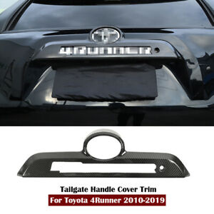 Carbon Fiber Rear Trunk Tailgate Handle Cover Trim For Toyota 4Runner 2010-2020
