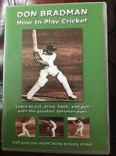 SIR DONALD BRADMAN How To Play Cricket DVD
