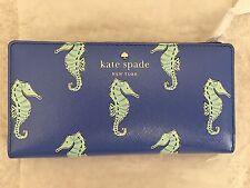 NWT Kate Spade Cedar Street Seahorses Stacy Wallet $100