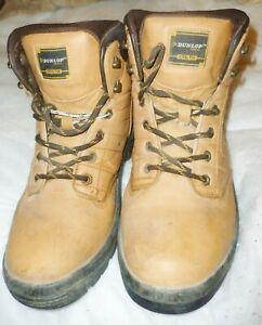 Dunlop Dakota Honey Mens Steel Toe Cap Safety Boots Size 9/43 - used