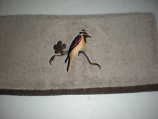 Mainstays Tan Hand Towel Bird in Nature Red Brown Gold with Brown Border Thick