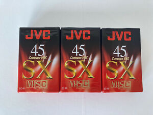 JVC SX 45 SX45 VHS-C Compact Camcorder Video Tape Cassette X3 Tapes