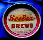 1933 SEEBER Brews Beer serving Tray Ultra Rare Elizabeth New Jersey