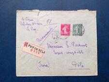 P869. France. Enveloppe 1938, semeuses. Puy en Velay Dôle