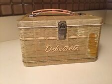 Rare Beauty! Vintage 1958 Debutante Metal Lunchbox So Sweet For Young Girl