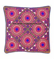 Indian Pillow Cases Throw Embroidered Cushion Cover Extra Large Pillows 16 X 16""