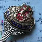 Old Vintage Cunard White Star Line RMS Ivernia Enamel Pennant Spoon