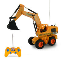 Inertial Excavator Radio Remote Control Children Toy Car Truck Xmas Gift S101