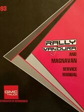 1993 gmc rally vandura & megnavan repair service manual