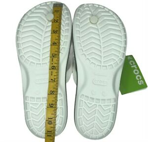 Crocs Mens Crocband Lightweight Water Friendly casual comfy sandal White size 11