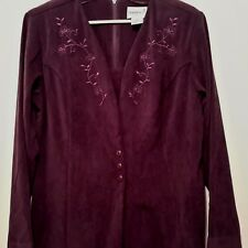 Woman's  Long Sleeved Dress-Size 12 by Fashion Bug- Color-Plum