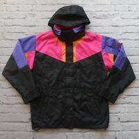 Vintage 90s North Face Colorblock Mountain Parka Jacket Womens Size 12 Black