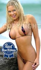 Fridge Magnet Sexy Pabst Pbr Sexy blonde bikini beach babe bar art decor