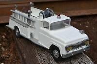 White 1958 Tonka Pumper Water Tanker No Side Crank  No Decals Fire Truck