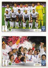 Panini Sticker Fifa 365 2016 Nr. 17 SC Corinthians Paulista & 18 SC Internaciona
