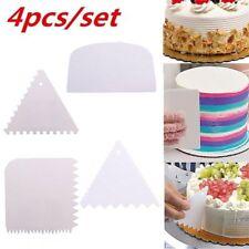 4Pcs Plastic Dough Icing Fondant Scraper Cake Decorating Baking Pastry Tools New