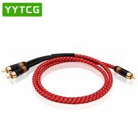 HIFI Single RCA to Dual RCA audio cable Pure Copper One Sub-2 Splitter Y RCA