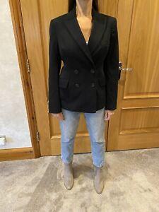 Burberry Black Double Breasted Blazer Jacket Ladies/UK 10