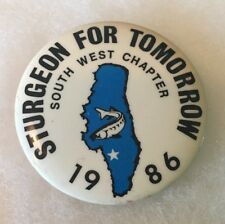 WI Oshkosh Wisconsin Sturgeon For Tomorrow 1986 Collectors Pin Fishing