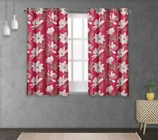 S4sassy Leaves & Magnolia Double Panel Window Treatment Curtain -FL-744P