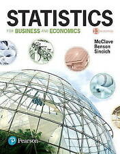NEW Statistics for Business and Economics (13th Edition) by James T. McClave