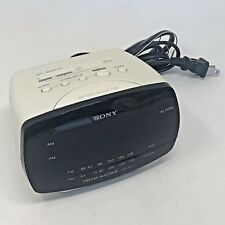 RARE Vtg Sony AM/FM alarm clock DREAM MACHINE ICF-C111 WHITE  Fully TESTED