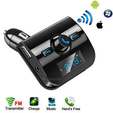 Bluetooth Car LCD FM Transmitter Wireless Radio Adapter USB Charger Mp3 Player